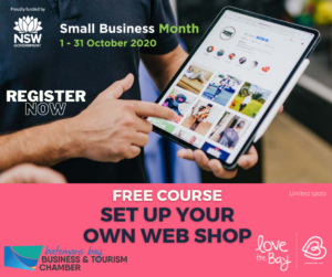 Sign up for a free course about how to make your own online shop
